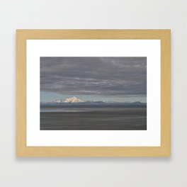 Stormy Clouds over the Cook Inlet Framed Art Print