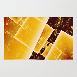 Flying Squares Abstract Geometric Fractal Art Rug