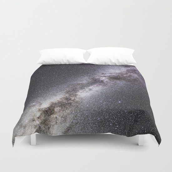 Barred Spiral Galaxy Duvet Cover