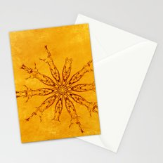 Smoke flowers on textured yellow Stationery Cards