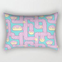 Tube City (Pink/Blue) Rectangular Pillow