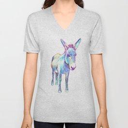 Colourful Donkey Unisex V-Neck