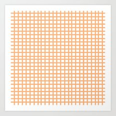 LINES in APRICOT Art Print