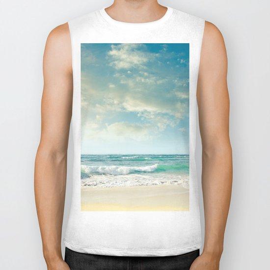 beach love tropical island paradise Biker Tank