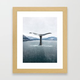 Whale In A French Lake Framed Art Print