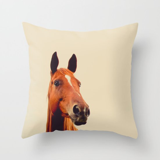 Horse of Eagle Crest  Throw Pillow
