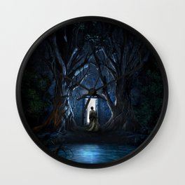 Tardis Nightmare Forest Wall Clock