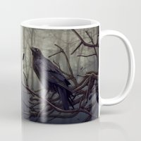raven Mugs featuring Raven by Raven-Art