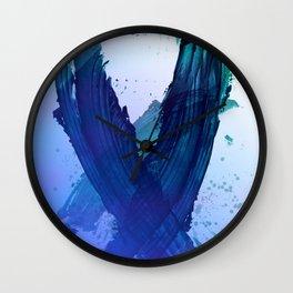 Atmospheric Blue Wings Wall Clock