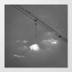 Crane & clouds Canvas Print