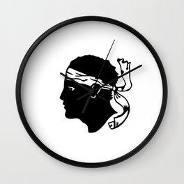 corsica region flag france county Wall Clock