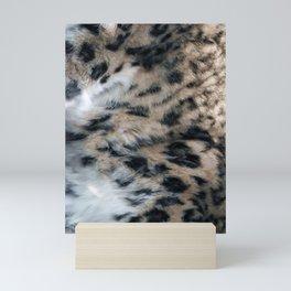 Snow Leopard Fur Abstract Mini Art Print