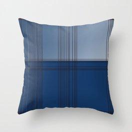 Design blocks, ethnic blue. BLUE BLOCKs Throw Pillow