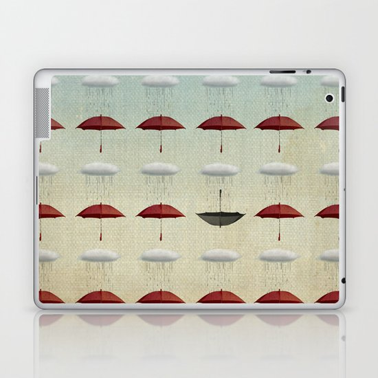 embracing the rain pattern Laptop & iPad Skin