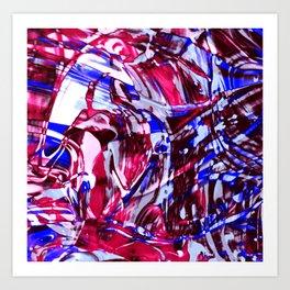 Fluid Painting 2 (Red Version) Art Print