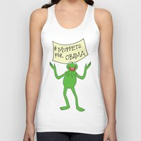 muppets Tank Tops featuring Muppets for Obama by Illustrated by Jenny