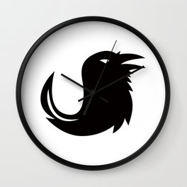 Crow Quill Pen Tail Icon Wall Clock