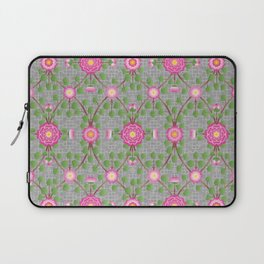 Wild Rose Garden Pattern Pink Laptop Sleeve