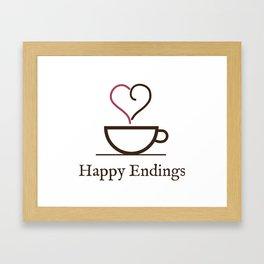 Happy Endings Podcast Logo Framed Art Print