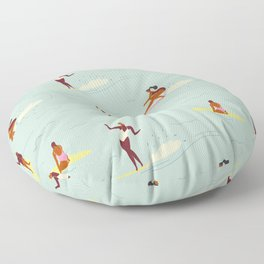 Waikiki beach Floor Pillow
