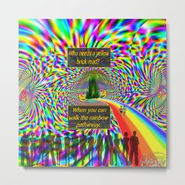 """""""The Rainbow Pathway"""" by surrealpete Metal Print"""