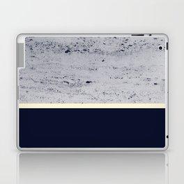 Navy Blue Pale Yellow on Navy Blue Concrete #1 #decor #art #society6 Laptop & iPad Skin