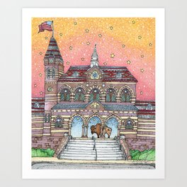 Chapel Hall Gallaudet University Art Print