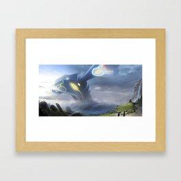 Kyogre-fanime-print Framed Art Print