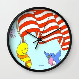 """""""Willy Worm Pride"""" Wall Clock"""