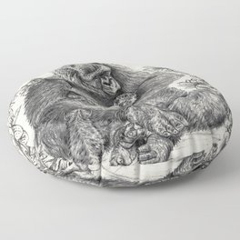 Koko Love Graphite Drawing Floor Pillow