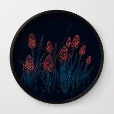 Hyacinths in the night Wall Clock