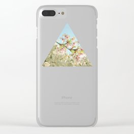Pink on White Clear iPhone Case
