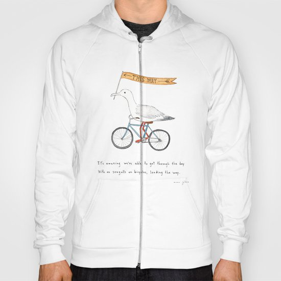 seagulls on bicycles Hoody