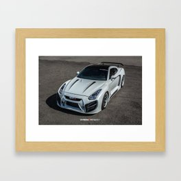 Fully Custom Nissan GT-R Widebody with LEDs Framed Art Print