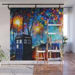 Tardis Art Painting Starry Night Wall Mural