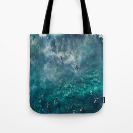 Surfing in the Ocean 2 Tote Bag