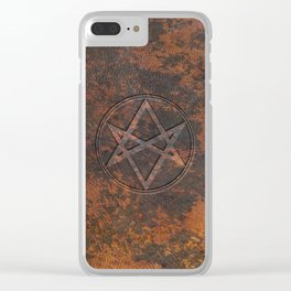 Men of Letters Leather Clear iPhone Case