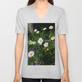 Wildflowers by the River Unisex V-Neck