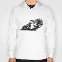cafe racer Hoodies featuring RACER 19 by Ernie Young