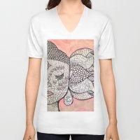 zen V-neck T-shirts featuring Zen by Hallie McIntyre