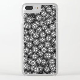 Poker chips B&W / 3D render of thousands of poker chips Clear iPhone Case