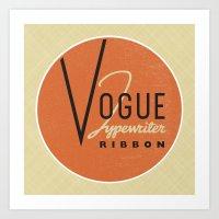 vogue Art Prints featuring Vogue by One Little Bird Studio