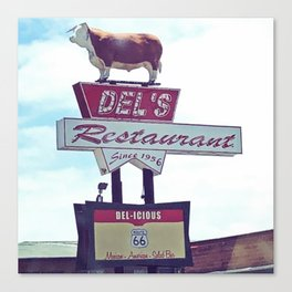 Del's Restaurant Tucumcari Canvas Print