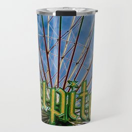 Ferris wheel at the funfair Travel Mug