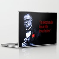 the godfather Laptop & iPad Skins featuring Don Vito Corleone The Godfather by Miquel Cazanya