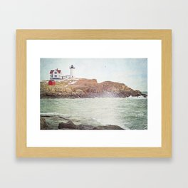 Cape Neddick Lighthouse Framed Art Print