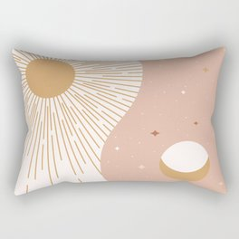 Yin Yang Blush - Sun & Moon Rectangular Pillow