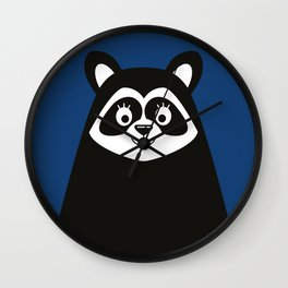 Scandinavian Minimalist Raccoon Wall Clock
