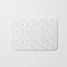 Holiday Llamas Bath Mat