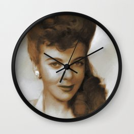 Ida Lupino, Movie Legends Wall Clock